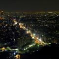 写真: 東山スカイタワーから見た夜景 No - 16:広小路通(東山公園駅前)