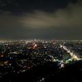 写真: 東山スカイタワーから見た夜景 No - 45:広小路通と名駅・栄方面