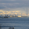 写真: 名古屋港水族館から見た、夕暮れ時の名港中央大橋 - 5