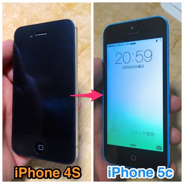 写真: iPhone 4Sから5cに移行!