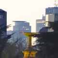 写真: 噴水塔越しに見えた、セントラルタワーズとミッドランドスクエア - 2