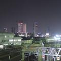 写真: 夜の向野橋から見た景色 No - 36:名駅ビル群