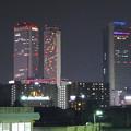 写真: 夜の向野橋から見た景色 No - 39:名駅ビル群