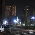 写真: 夜の名駅ビル群 - 3