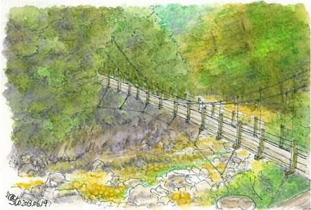 20130619三段峡の吊橋
