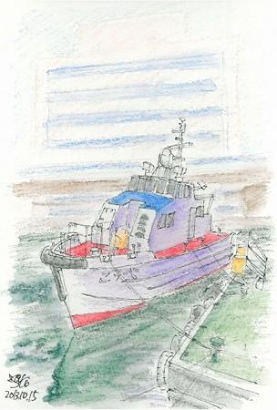 20131015神戸の監視艇