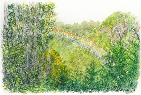 20131114瓶が森にて(虹)