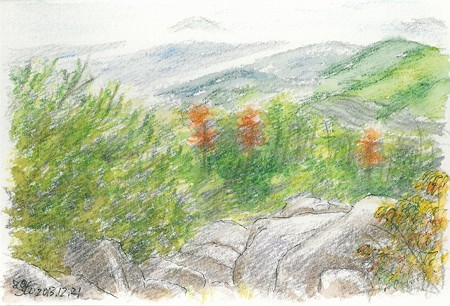 20131221大茶臼山にて