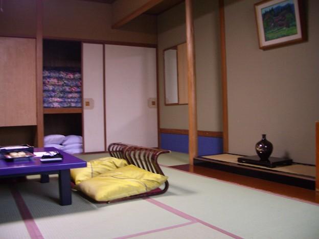 泊まった旅館の部屋