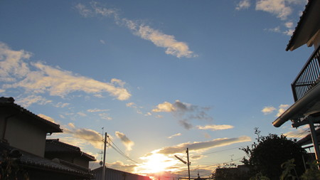 hiro君のための暮れゆく夕日.2013.11.17