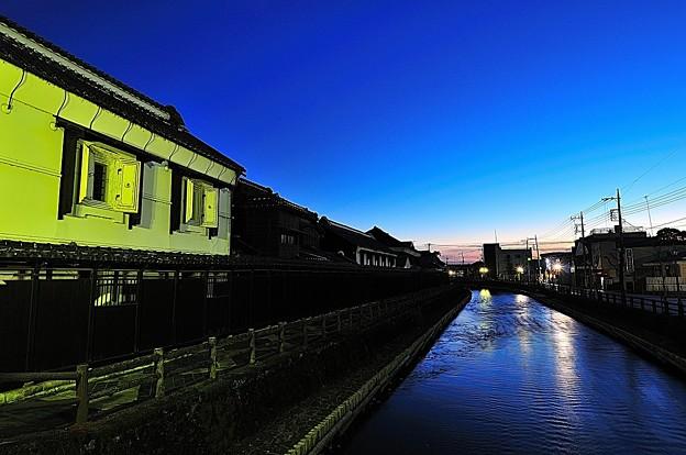 蔵の街夕景