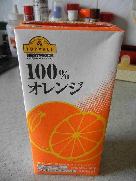 トップバリュのオレンジジュース