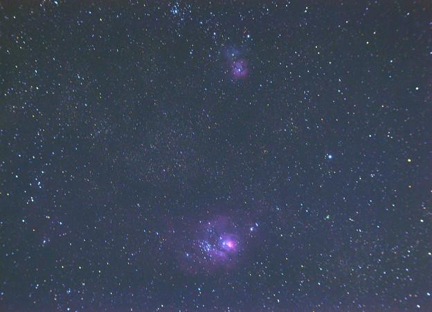 M8干潟星雲とM20三裂星雲 (2012/08/05)