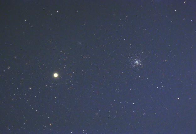 アンタレスと球状星団M4 (2012/08/05)