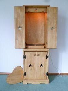 スリム仏壇 スライドテーブル