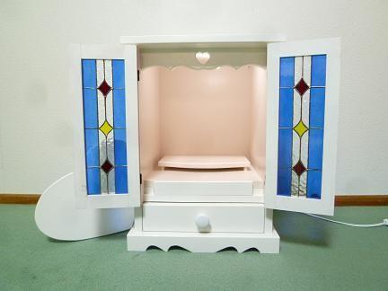 ステンドグラス ミニ仏壇(ブルー)