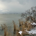 雪の琵琶湖