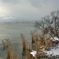 Photos: 雪の琵琶湖