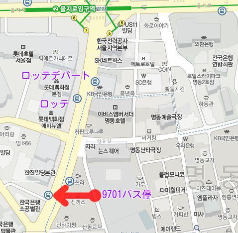 写真: 9701バス停地図