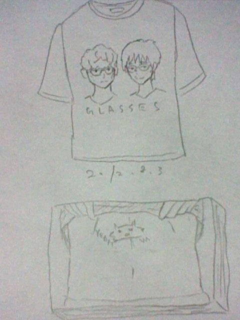 """サケノサカナグッズ-""""GLASSES""""Tシャツと山口一郎腹筋メモ"""