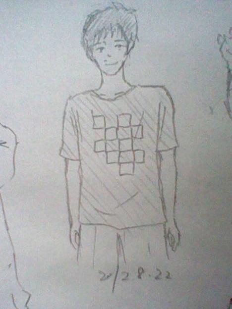 """サケノサカナ源さん""""ダサいじゅうたん""""Tシャツ"""
