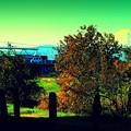 青い橋と関越道と富士山と..........