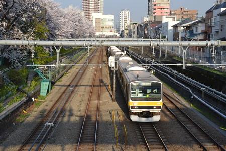桜とE231系0番台@東中野-中野 [3/28]