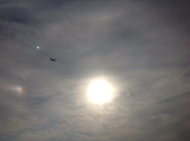 幻日・ハロ・飛行機