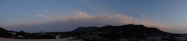 南側の雲のパノラマ写真♪