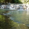 Photos: トラバーチンの堆積で出来た滝つぼ
