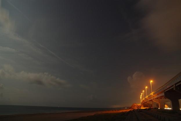 月夜の遠州灘(西)