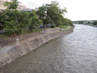 台風18号後の高野川 3