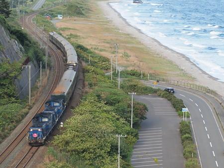 DD51重連 トワイライトエクスプレス 室蘭本線