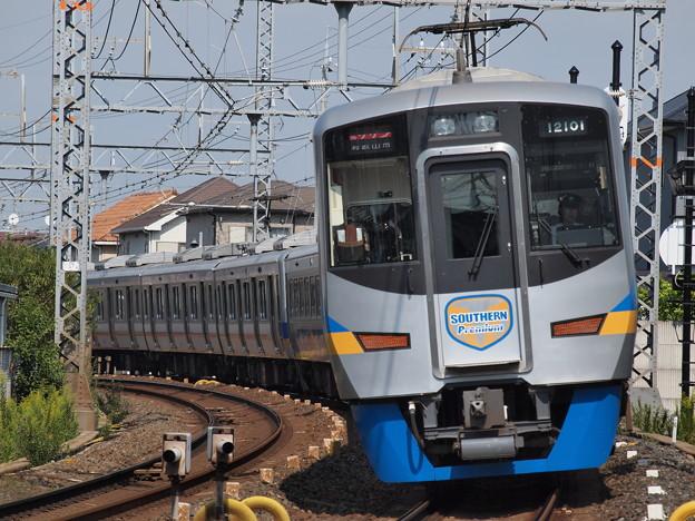南海12000系 サザンプレミアム 南海本線二色浜駅