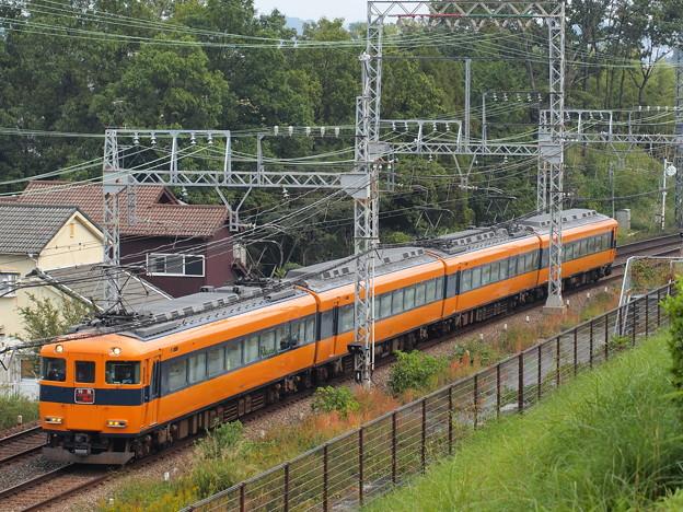 近鉄12400系阪伊乙特急 近鉄大阪線関屋~二上俯瞰アングル