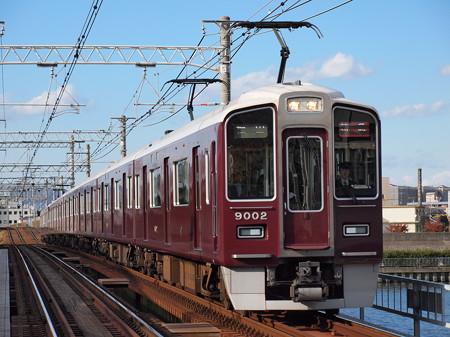 阪急9000系特急 阪急神戸線神崎川駅
