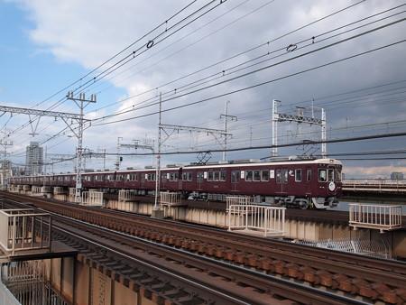 阪急6000系西山天王山HM付き普通 阪急線十三~中津