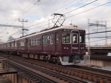 阪急7000系普通 流し 阪急神戸線十三~中津