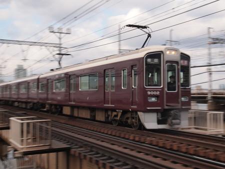 阪急9000系特急 流し 阪急神戸線十三~中津
