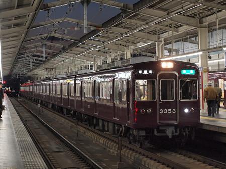 阪急3300系準急 阪急京都線茨木市駅