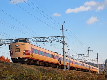 381系こうのとり回送 東海道本線高槻~摂津富田