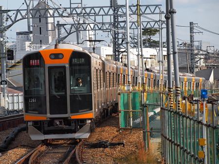 阪神1000系直通特急(赤色) 阪神本線駅