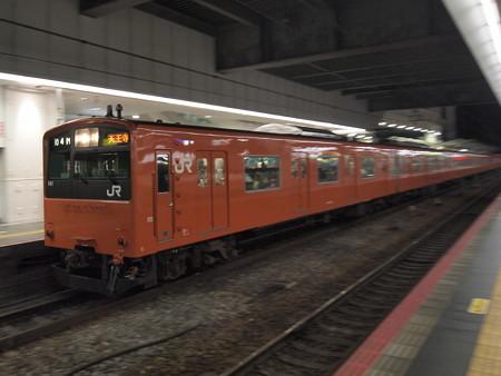 201系終夜運転流し 大阪環状線大阪駅