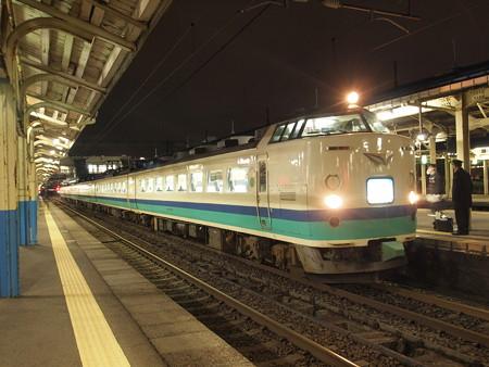 485系上沼垂色 特急北越 北陸本線直江津駅