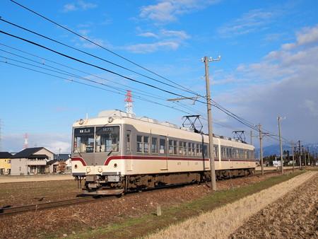 富山地鉄14760系旧塗装 普通 富山地鉄本線越中舟橋~越中三郷