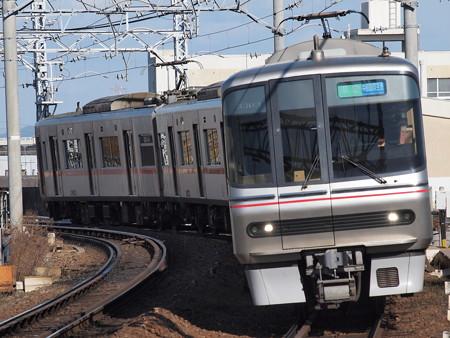 名鉄3300系準急 名鉄名古屋本線東枇杷島駅