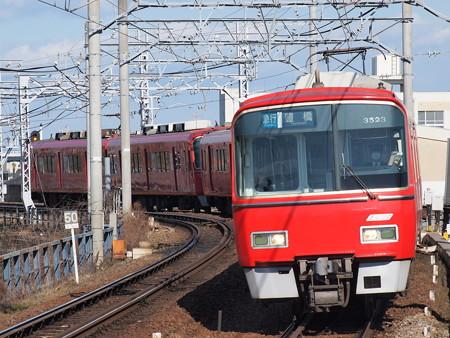 名鉄3500系急行 名鉄名古屋本線東枇杷島駅