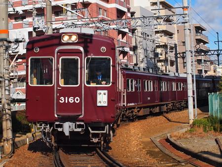 阪急3000系 阪急伊丹線稲野~塚口