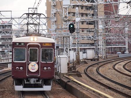 阪急6000系急行 七福神HM付き 阪急宝塚線中津駅