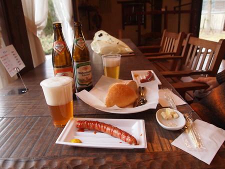 ビールとソーセージそしてパン@お菓子の里丹波